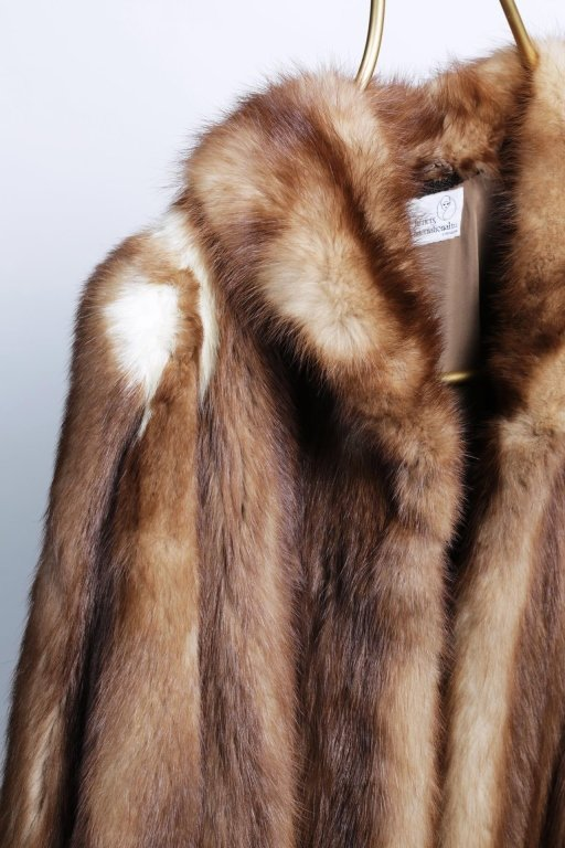 DYED FOX STROLLING LENGTH FUR COAT - 2
