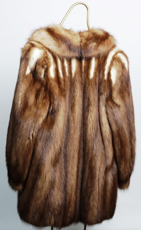 DYED FOX STROLLING LENGTH FUR COAT - 3