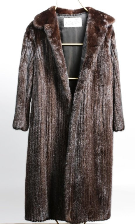 DYED MINK FUR COAT with REGULAR LENGTH SLEEVES - 2