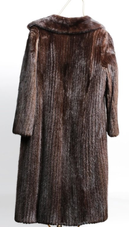 DYED MINK FUR COAT with REGULAR LENGTH SLEEVES - 3