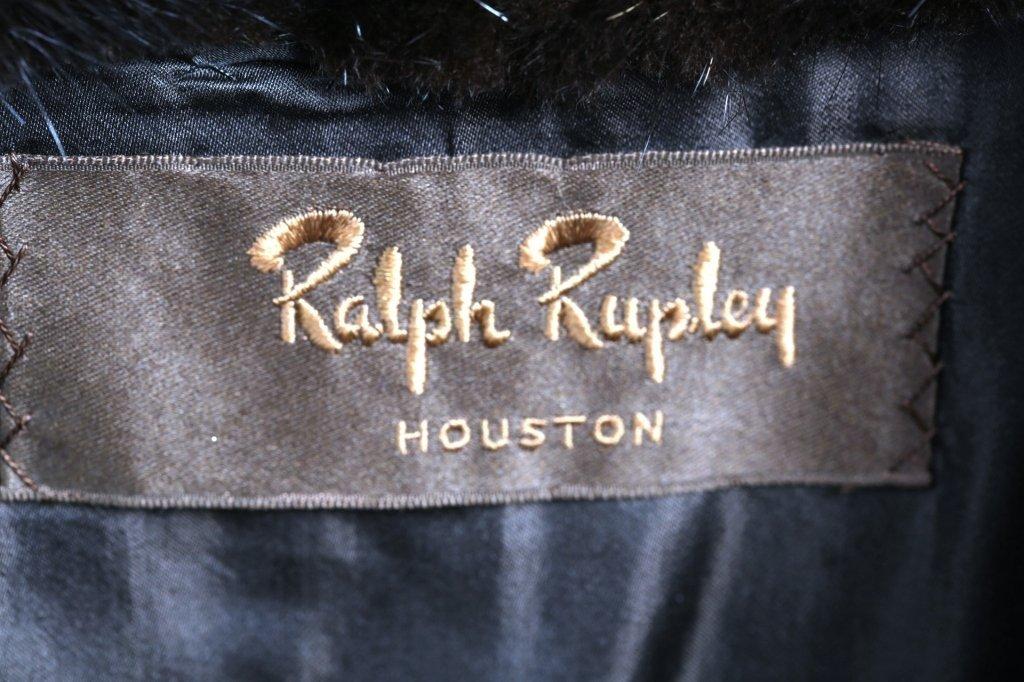 RALPH RUBPLEY  CONVERTIBLE MINK FUR COAT - 4