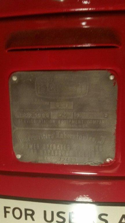 RED CROWN ANTIQUE GAS PUMP, BENNETT #646 - 6