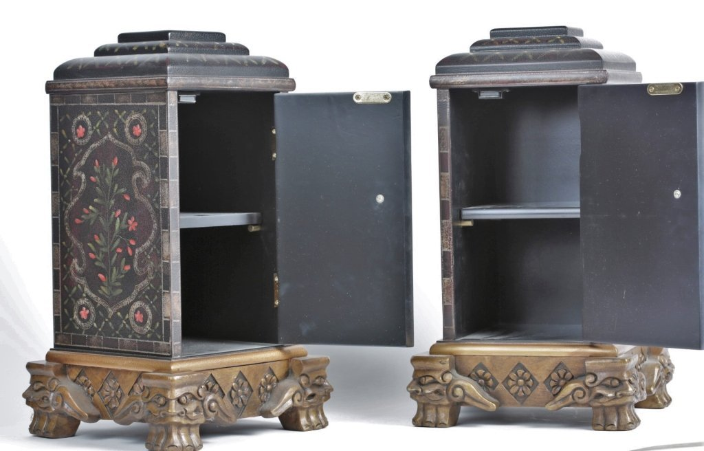 PAIR OF CHINESE PAINTED BOXES - 3