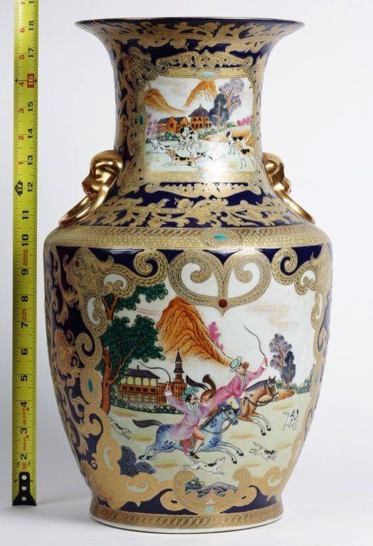 "18"" TALL CHINESE PORCELAIN URN"