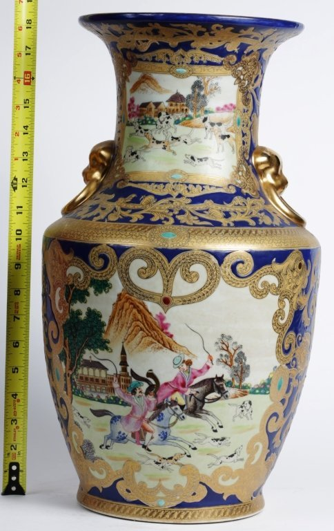 "18.25""TALL CHINESE PORCELAIN URN"