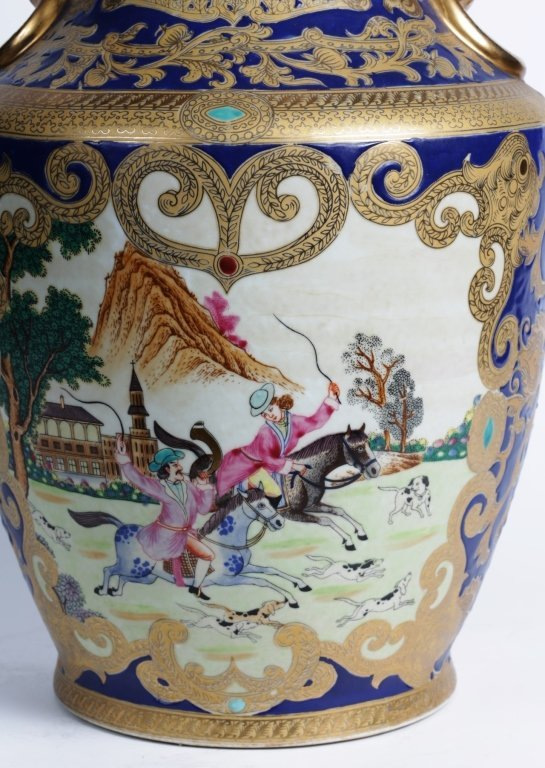 "18.25""TALL CHINESE PORCELAIN URN - 2"
