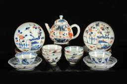 A various lot with porcelain including, a teapot with a