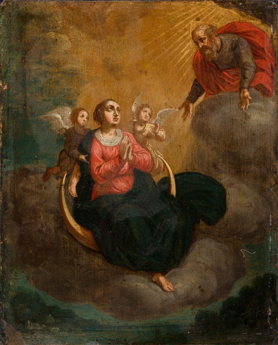 Italiaanse School (17e eeuw), 'Maria op de maansikkel',