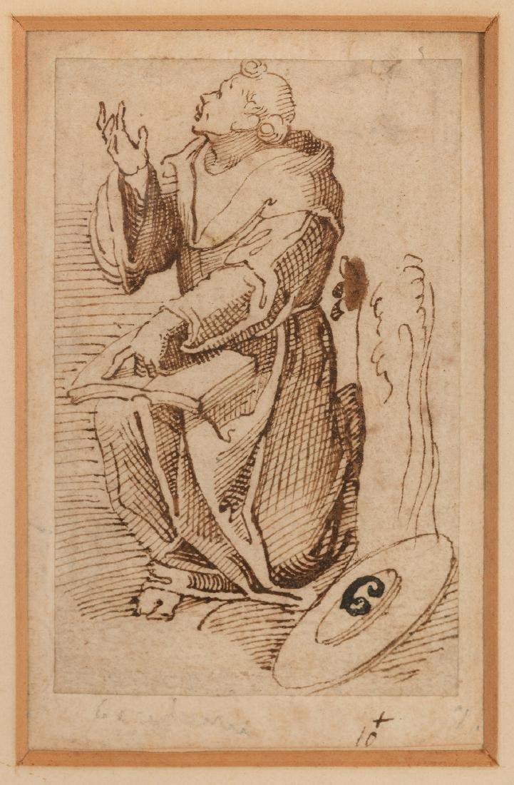 Annibale Carracci (1560-1609) omgeving van, 'Lezende