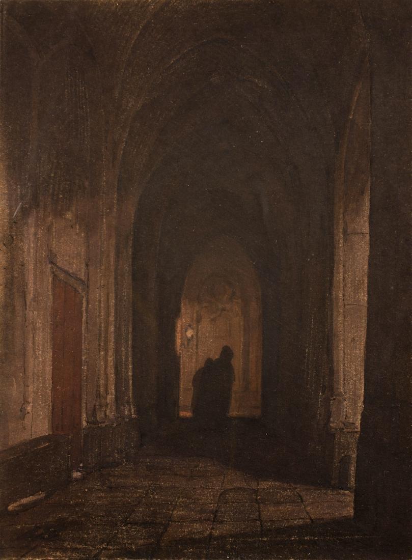 Johannes Bosboom (1817-1891) 'Figuren in een portaal',