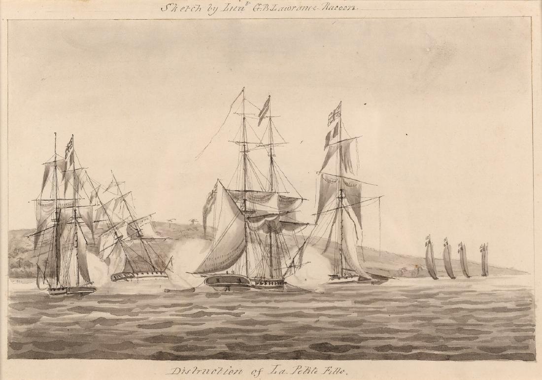 G.B. Lawrance (19e eeuw) 'Destruction of La Petite