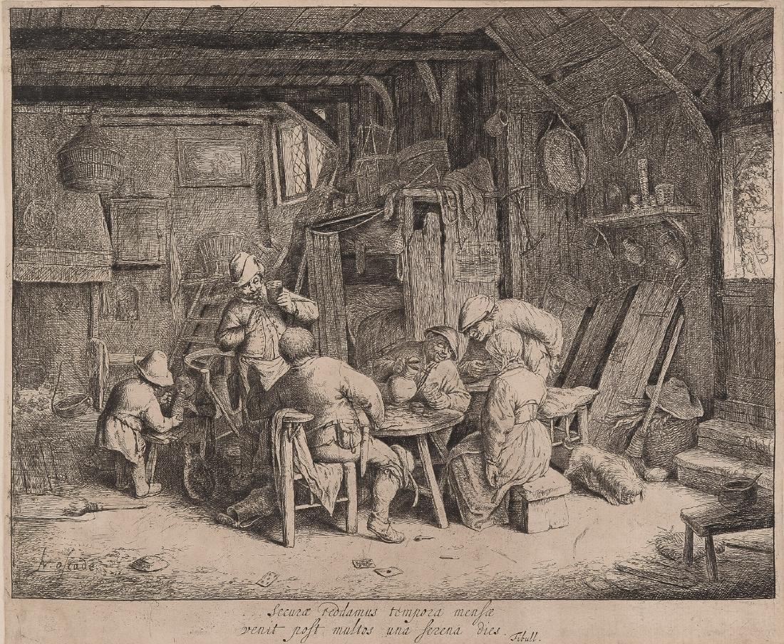 Adriaen van Ostade (1610-1685) 'Le Gourmet en