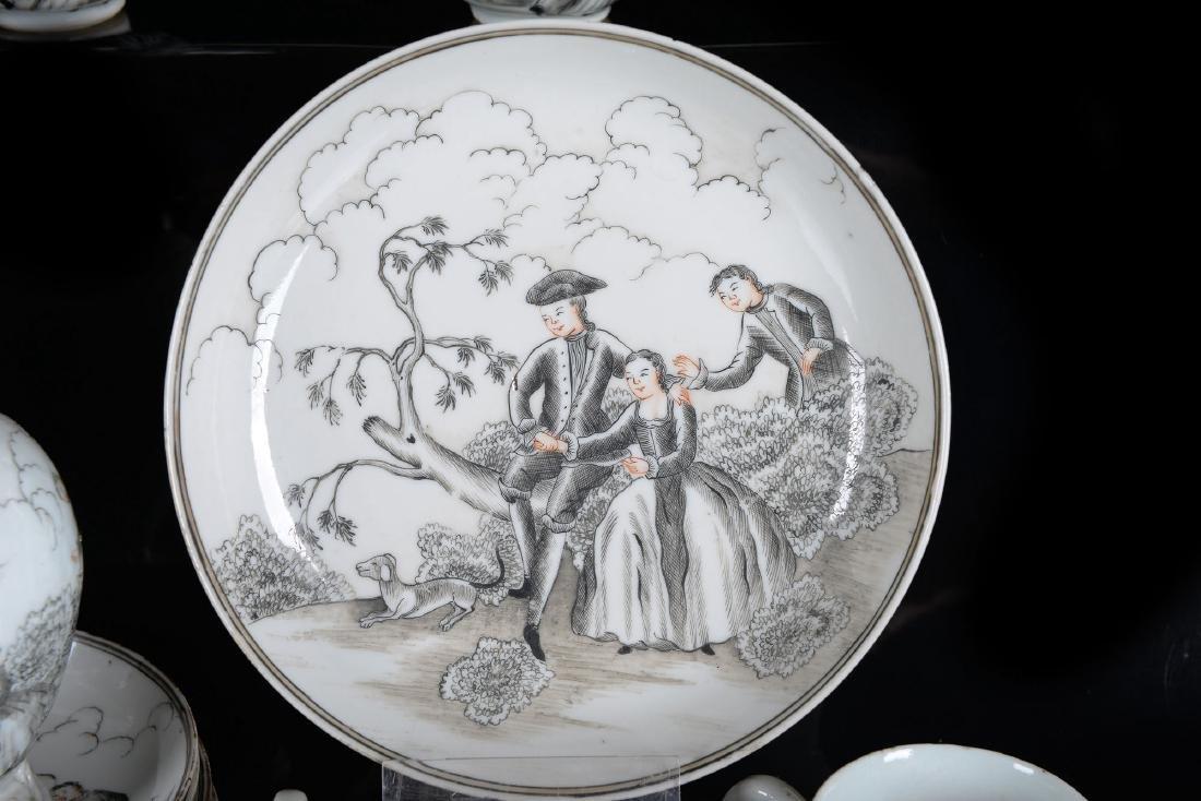A 30-piece Encre-de-Chine porcelain tea service with - 3