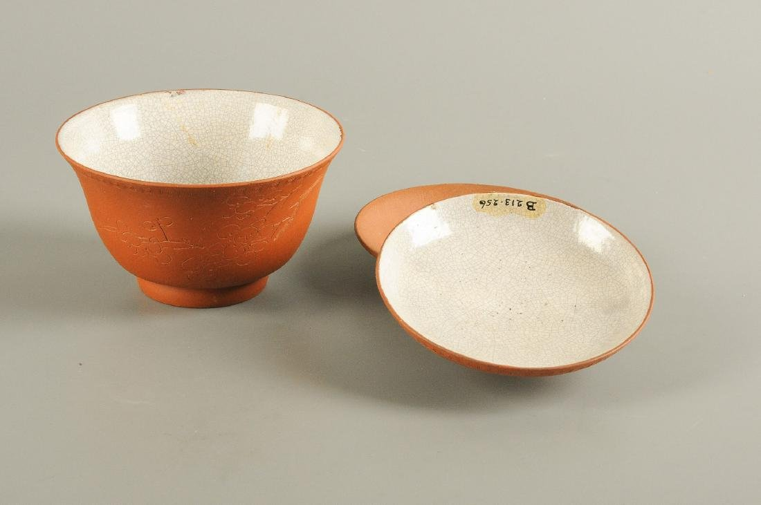Lot of various Yixing items, containing eight bowls, - 2