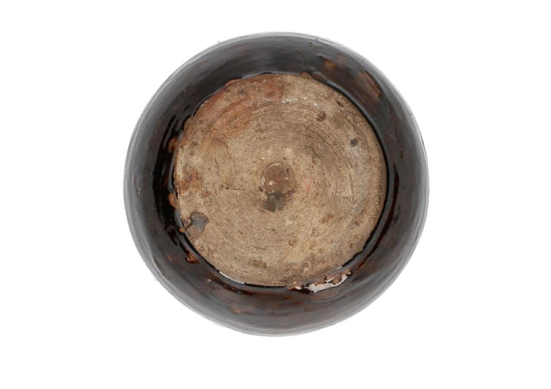 A brown glazed stoneware Martaban storage jar. China, - 4
