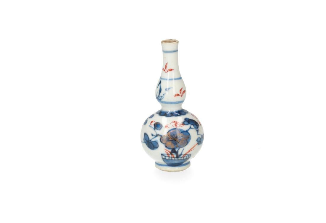 A pair of blue and white porcelain miniature baluster - 6