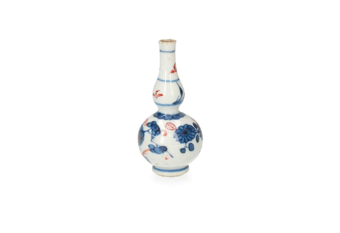 A pair of blue and white porcelain miniature baluster - 7