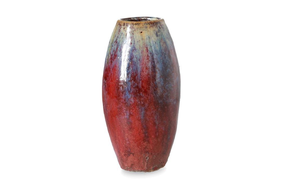 A porcelain Sang-de-Boeuf flambé vase. China, 18th
