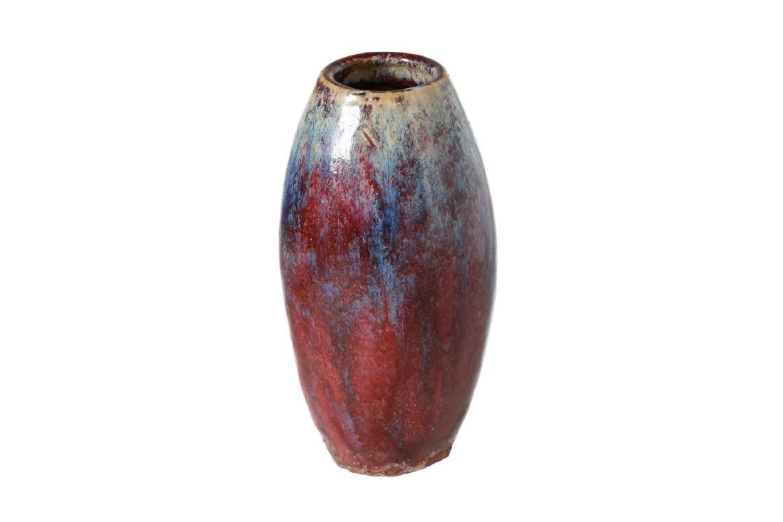 A porcelain Sang-de-Boeuf flambé vase. China, 18th - 2