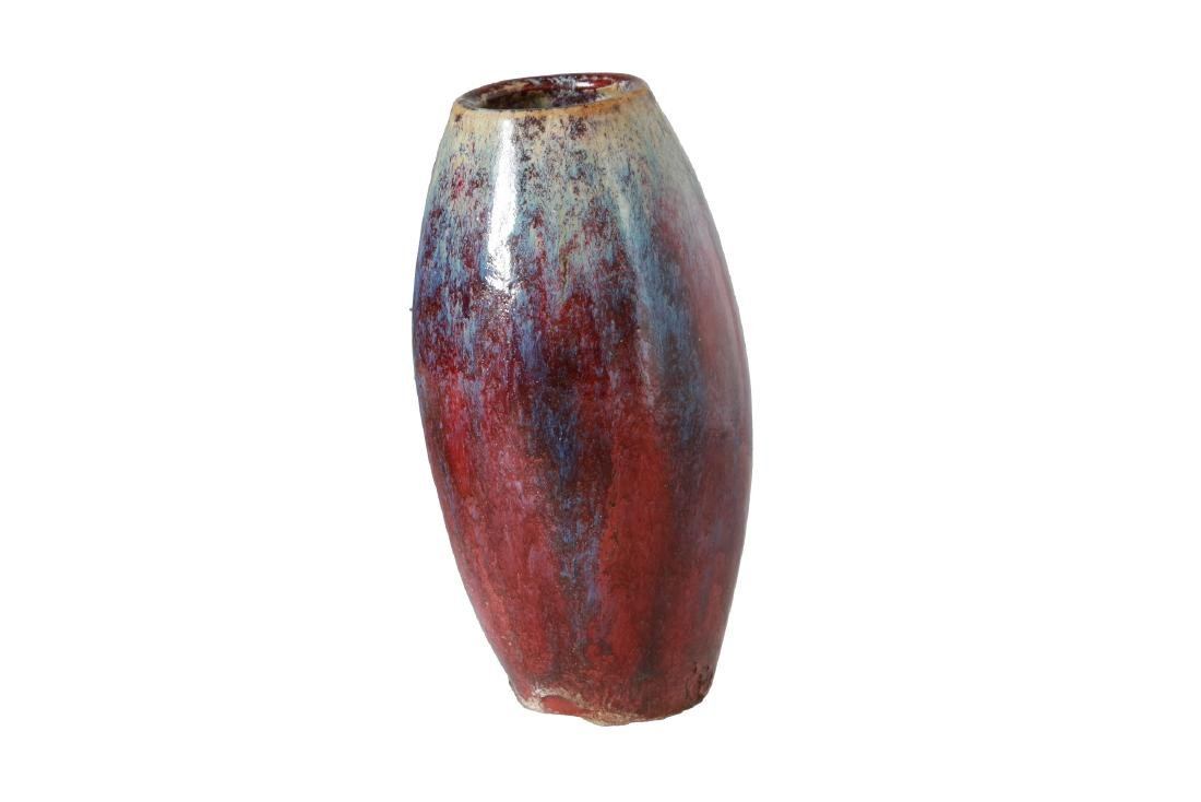 A porcelain Sang-de-Boeuf flambé vase. China, 18th - 3