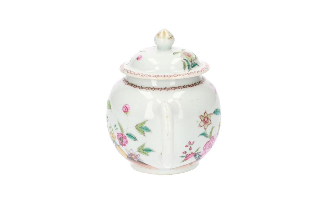 A Famille Rose porcelain teapot, decorated with