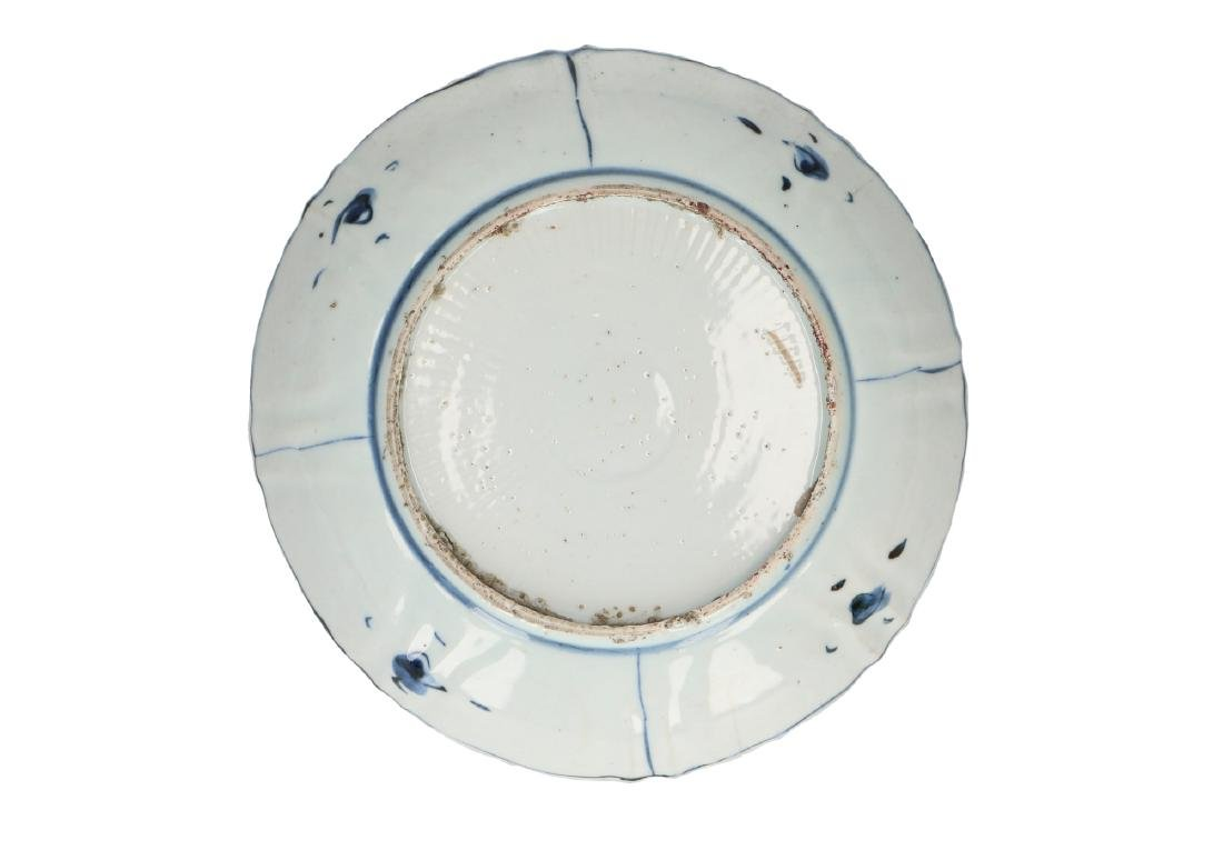 A lot of two blue and white 'kraak' porcelain dishes - 2