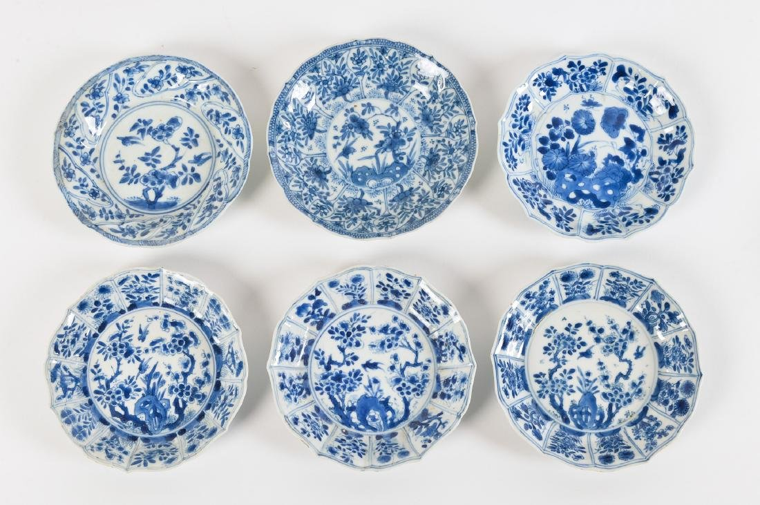 A lot with ca. 42 diverse blue and white porcelain - 3