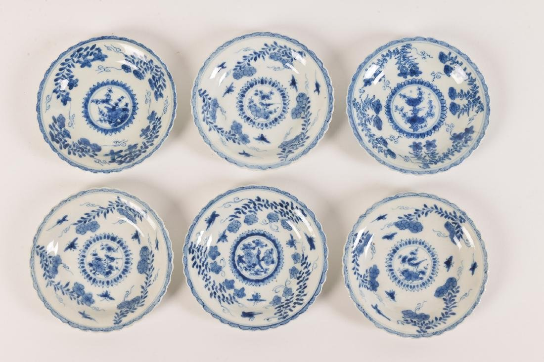 A lot with ca. 42 diverse blue and white porcelain - 5