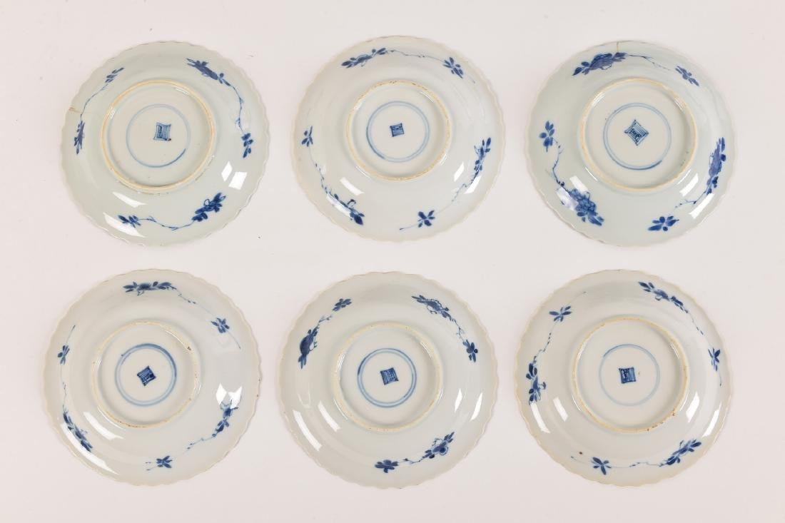A lot with ca. 42 diverse blue and white porcelain - 6