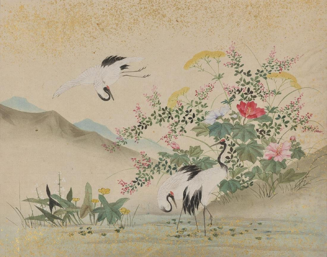 A lot of four watercolor drawings on rice paper - 4