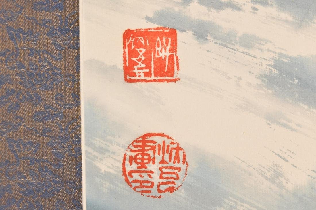 A scroll depicting Cao Cao, a warlord and later king of - 3