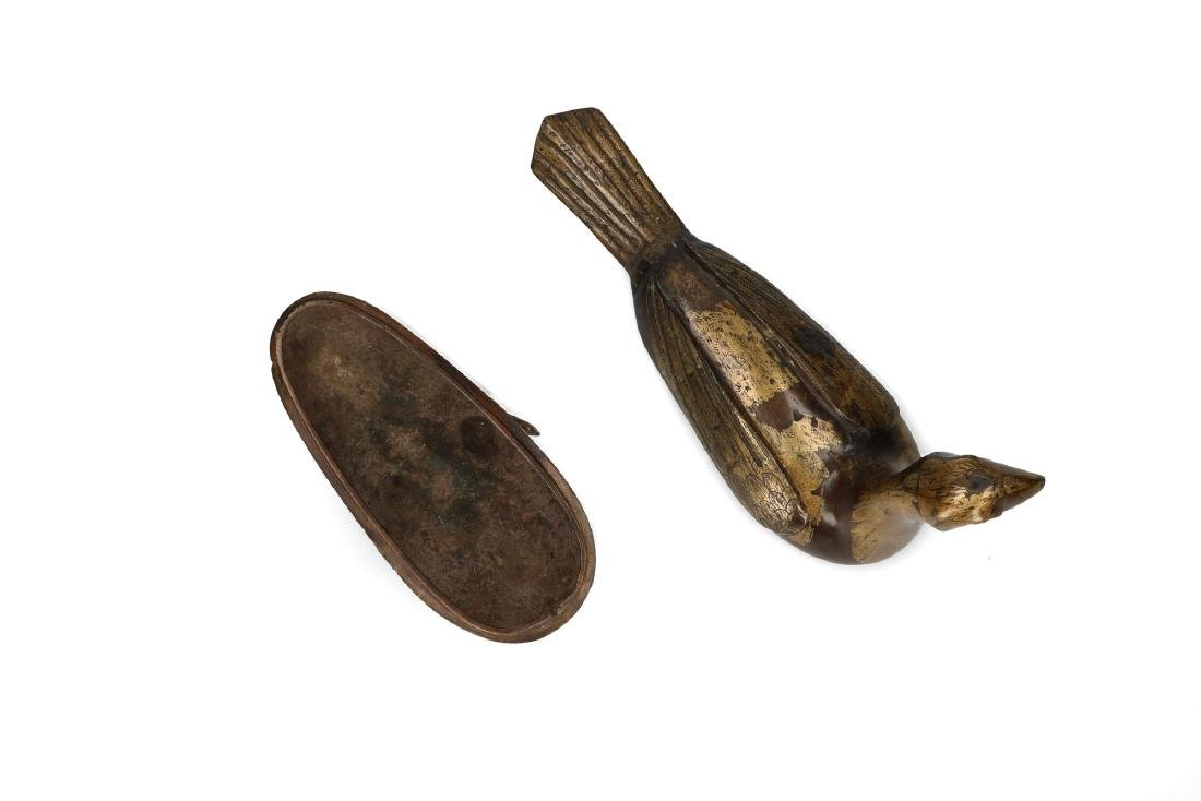 A pair of bronze perfume burners in the shape of birds. - 4