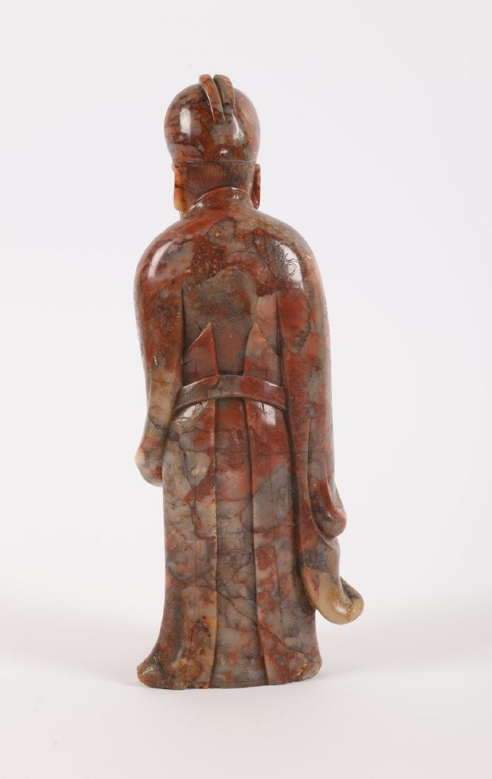 A soapstone sculpture of a priest. China, 18th/19th - 2