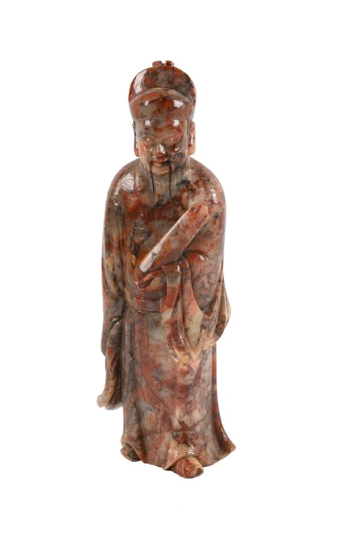 A soapstone sculpture of a priest. China, 18th/19th - 4