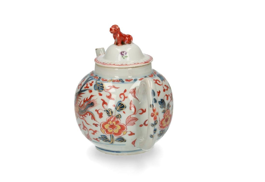 Two Imari porcelain teapots: 1) lobbed body with floral - 2