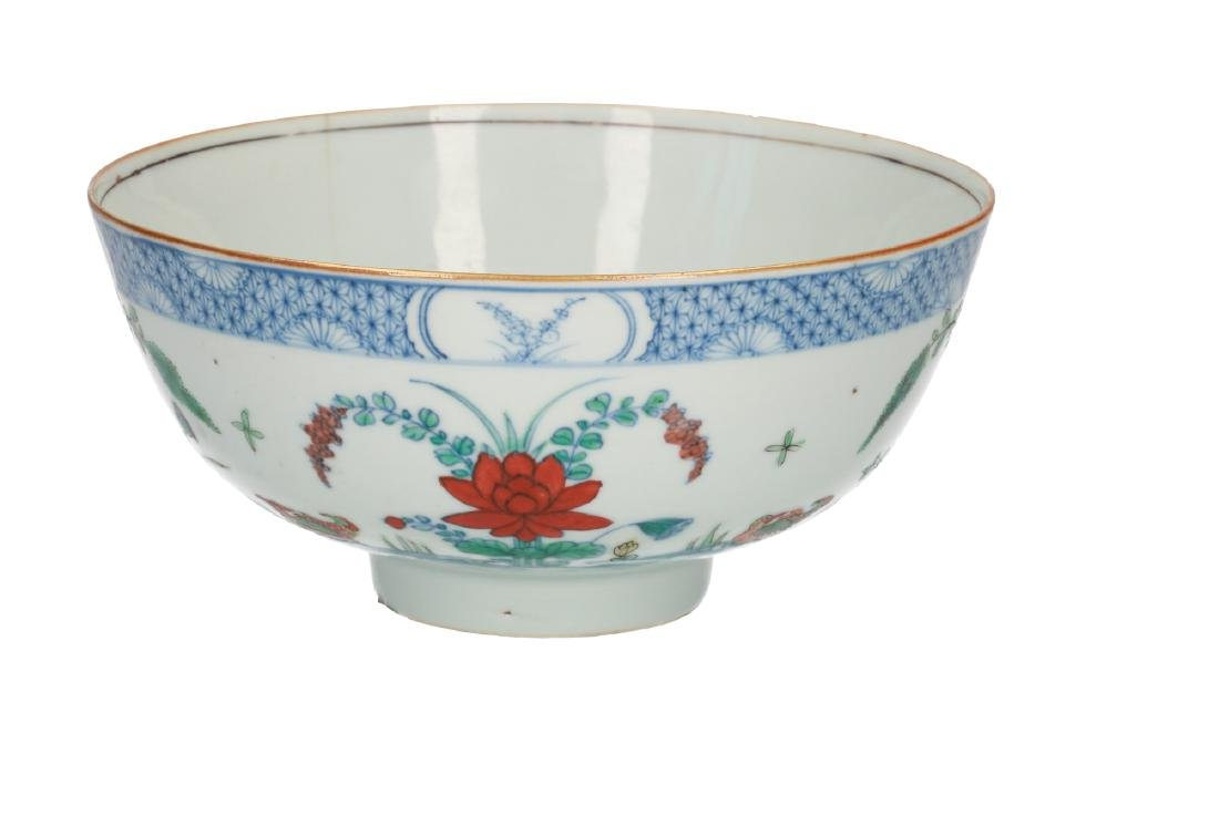 A doucai porcelain bowl, decorated with water birds and - 2