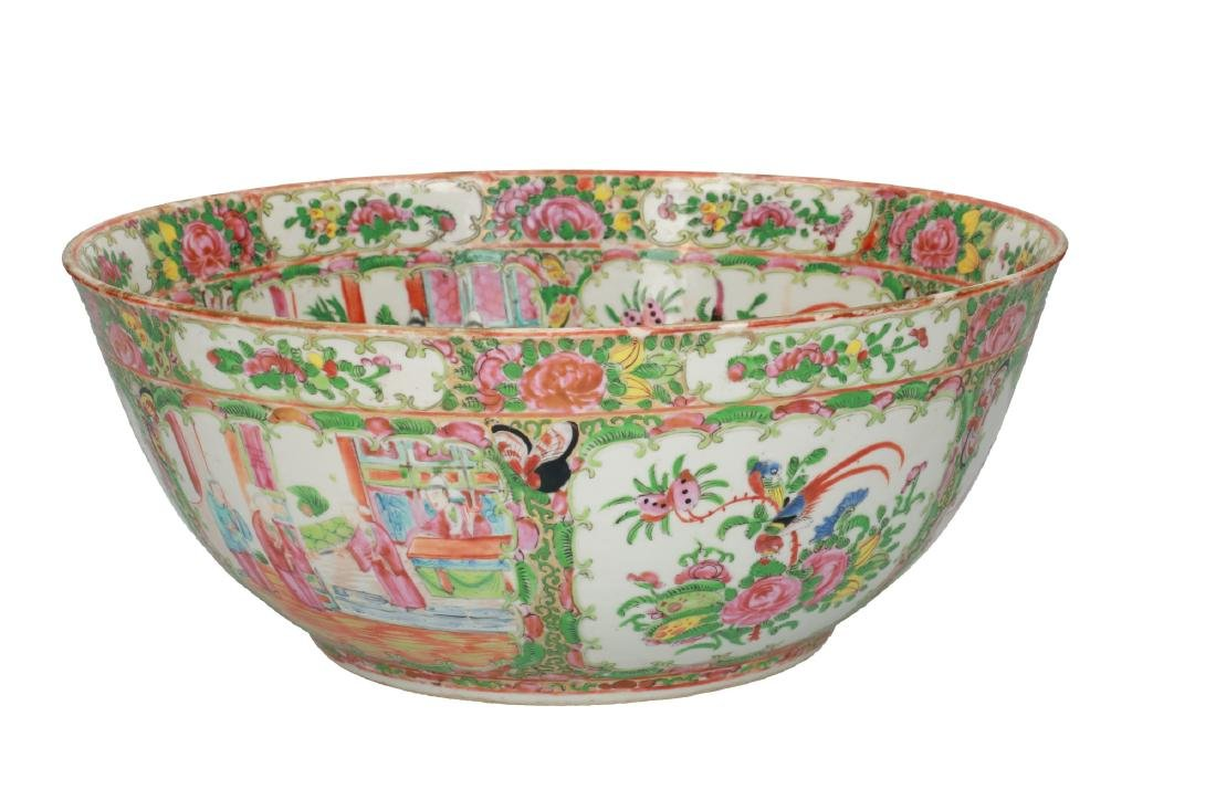 A large polychrome porcelain bowl decorated with
