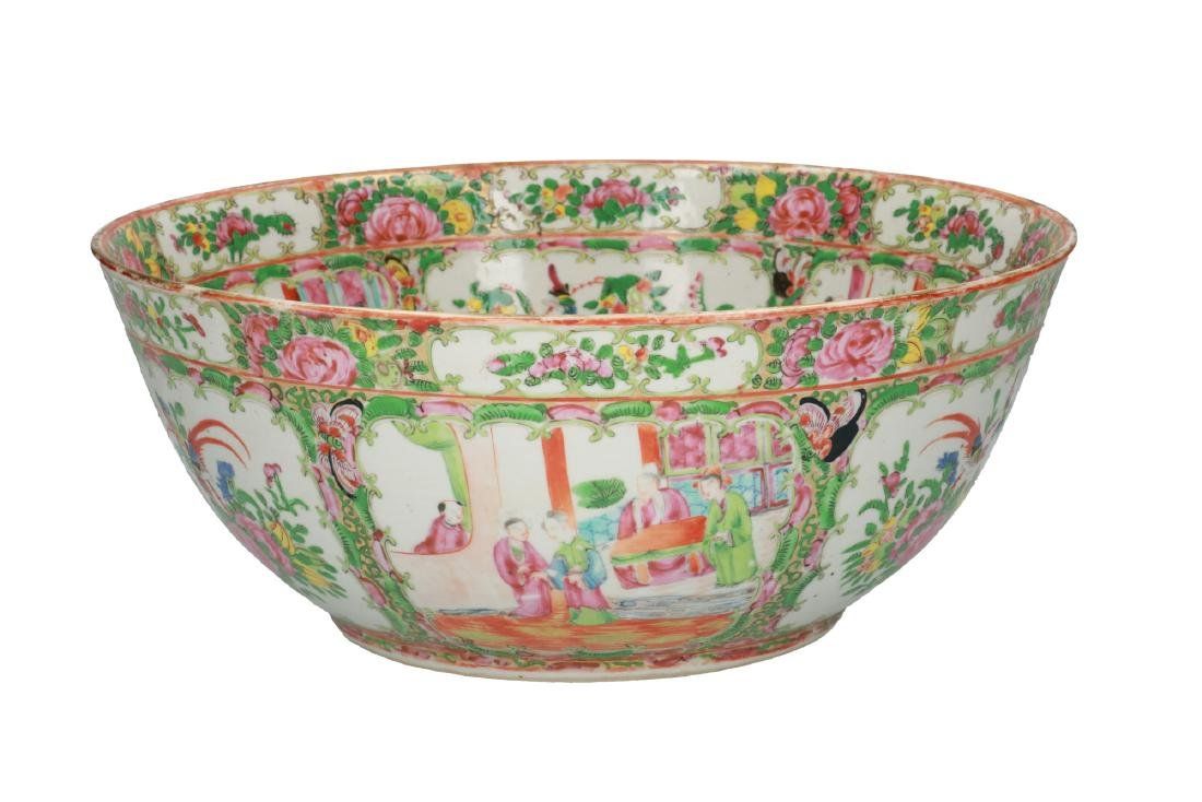 A large polychrome porcelain bowl decorated with - 2