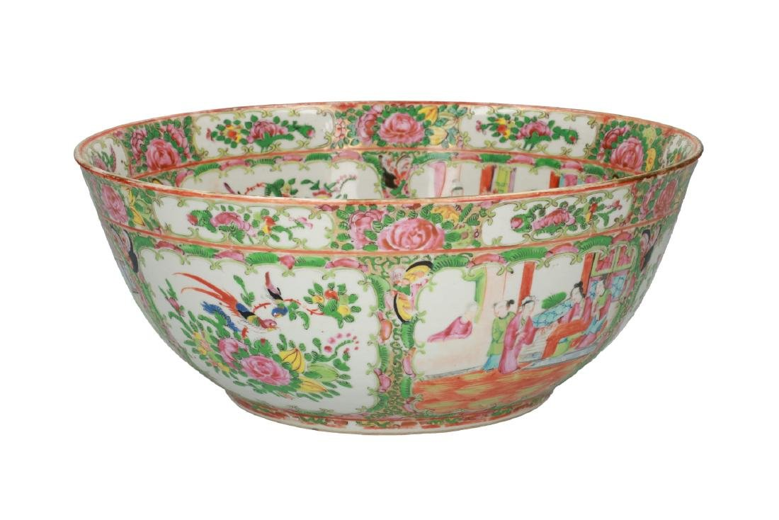 A large polychrome porcelain bowl decorated with - 3