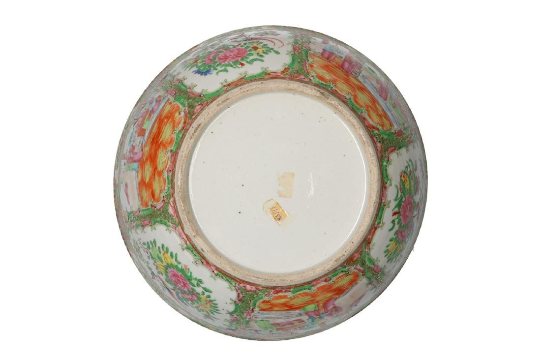 A large polychrome porcelain bowl decorated with - 5