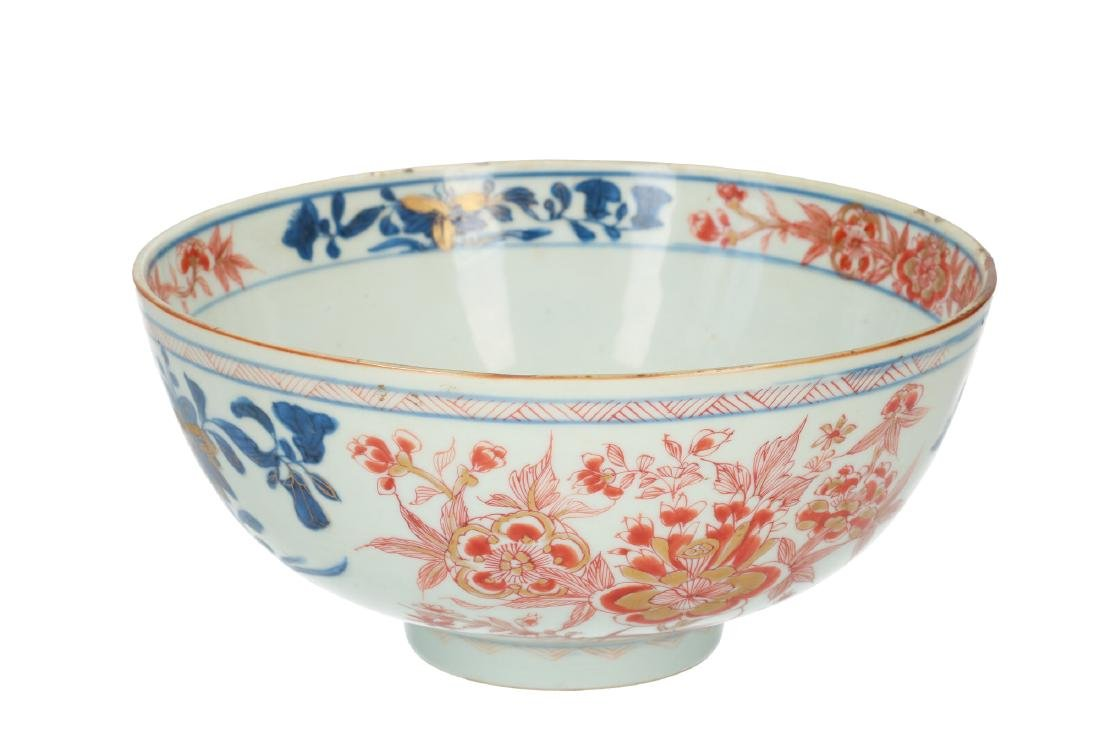 An Imari porcelain bowl decorated with flowers. - 2