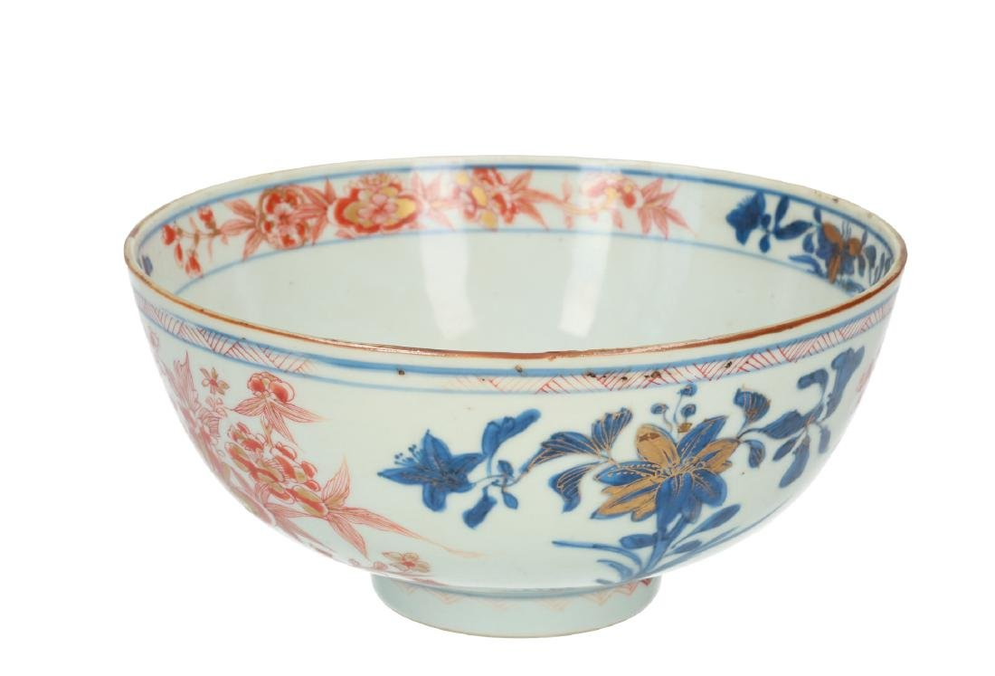 An Imari porcelain bowl decorated with flowers. - 3