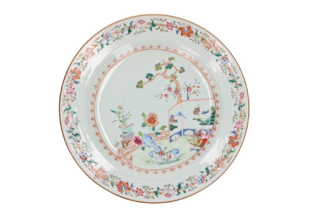 A lot of six Famille Rose porcelain dishes, decorated