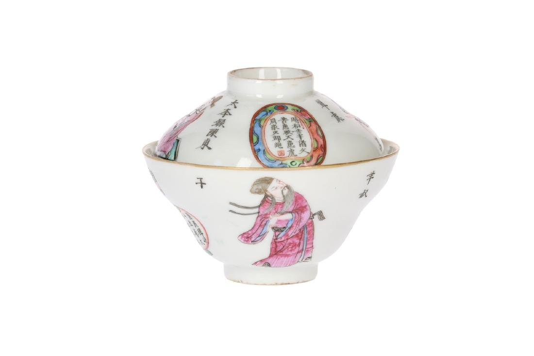 A lot with diverse polychrome porcelain items, of which - 14