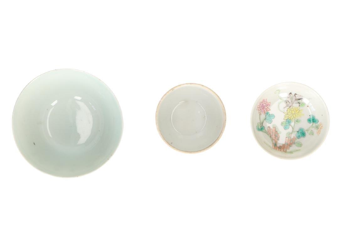 A lot of 10 diverse polychrome porcelain items, - 11