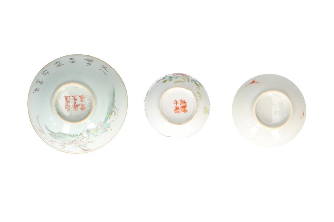A lot of 10 diverse polychrome porcelain items, - 12