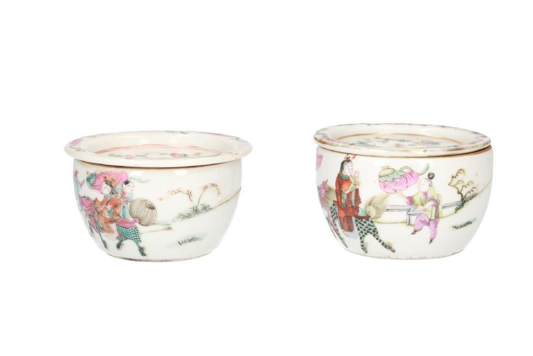 A lot of 10 diverse polychrome porcelain items, - 2