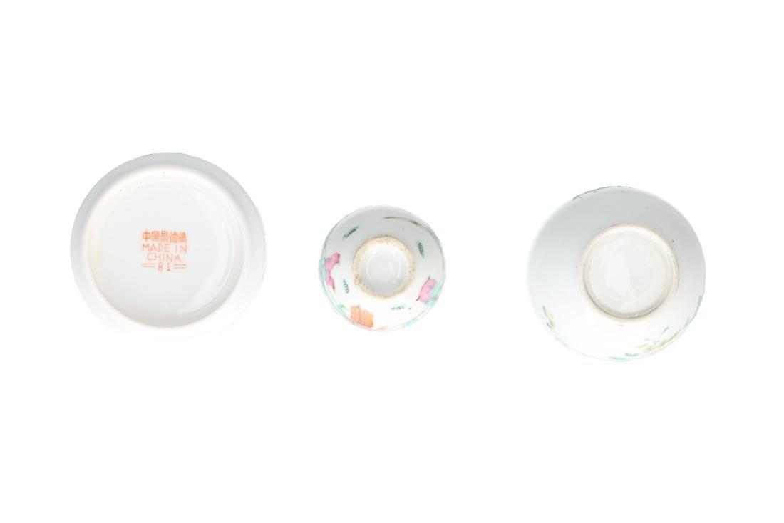 A lot of 10 diverse polychrome porcelain items, - 8