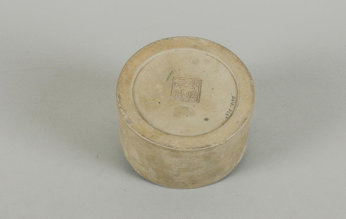 A green Yixing pot. Marked with seal mark. China, 20th