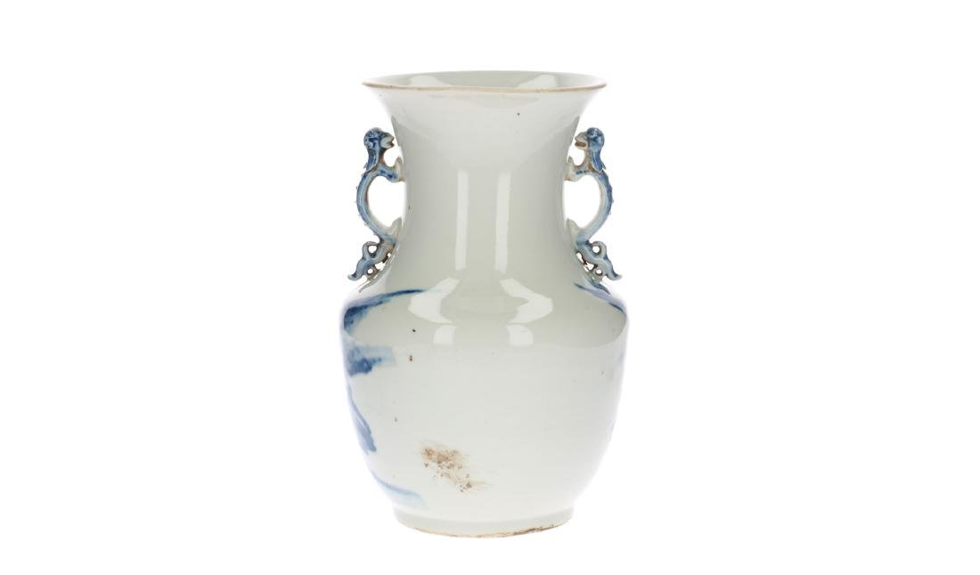 A blue and white porcelain vase, decorated with - 2